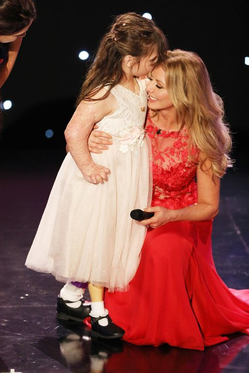Carol Vorderman with Tilly at the Pride of Britain Awards