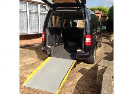 My adapted VW Caddy with manual ramp