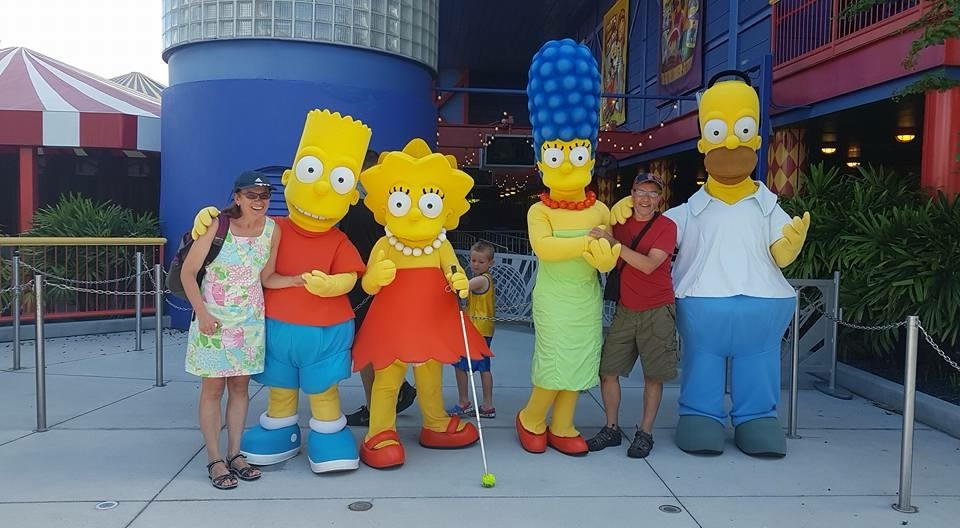 Kate with the Simpsons!