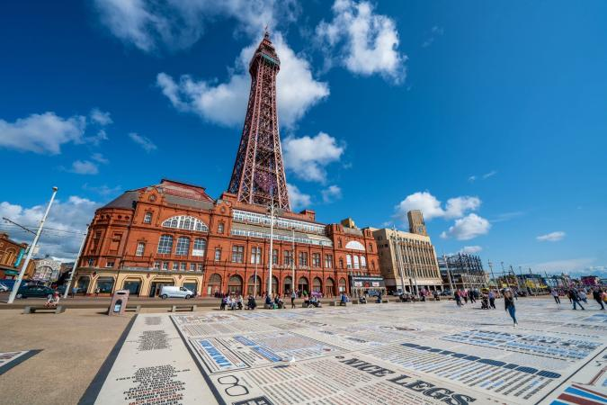 Blackpool by the Sea image - BLACKPOOL UNITED KINGDOM This is a view of the Blackpool Tower small 2