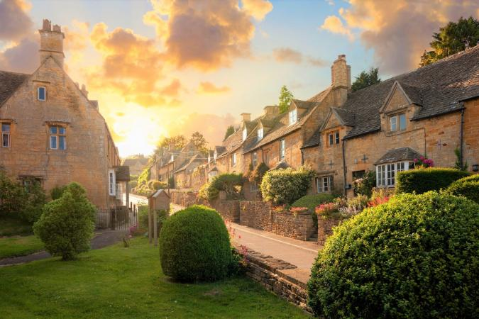 Cheltenham Races in the Cotswolds  image - Bourton on the Hill village near Moreton in Marsh Cotswolds small 2