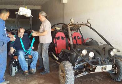Itinerary - Optional ride on adapted Quad Bike